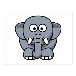 Ellie the Elephant Cute Cartoon Animal Post Card
