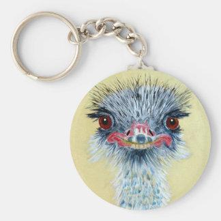 Ellie the Emu Basic Round Button Key Ring