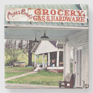 Ellijay, Georgia, Apples, Crossroads, Vintage Sign Stone Coaster