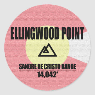 Ellingwood Point Classic Round Sticker