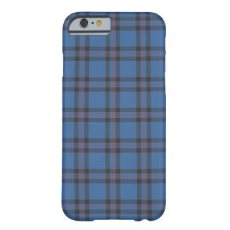 Elliot Clan Blue and Brown Tartan Barely There iPhone 6 Case