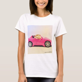 elliot the hedgehog pink car shirt