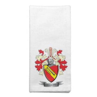 Elliott Family Crest Coat of Arms Napkin