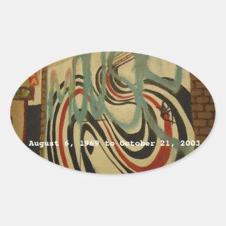 elliott smith memorial wall oval sticker