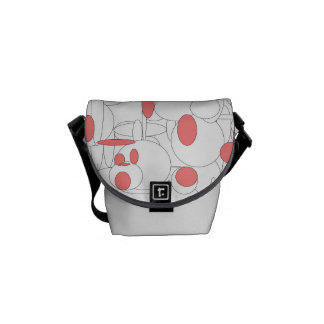 Ellipses circle to black white pink SIRAdesign Courier Bag