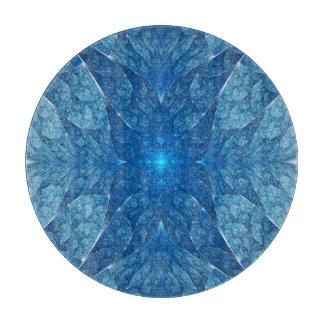 Elliptic Blue Fractal Cutting Board