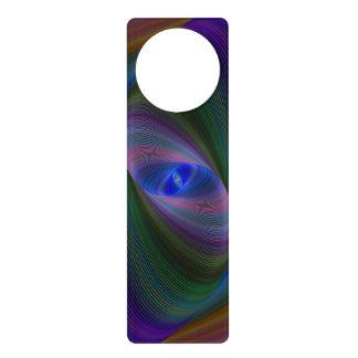 Elliptical fractal door hanger