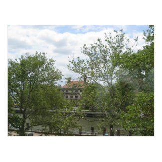 Ellis Island Dorms Postcard