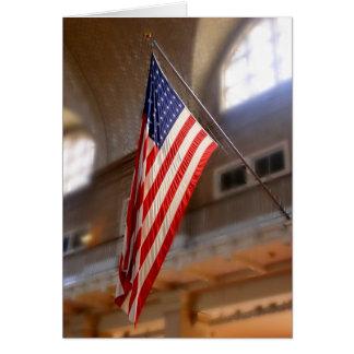 Ellis Island flag Card