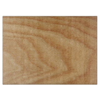 Elm Woodgrain Decorative Glass Chopping Board