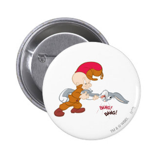 Elmer Fudd and BUGS BUNNY™ 6 Cm Round Badge