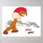 Elmer Fudd and Bugs Bunny Print