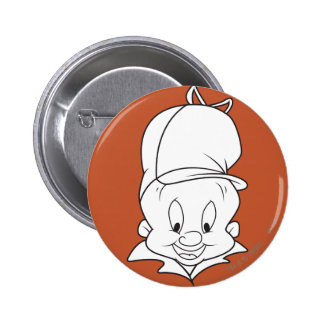ELMER FUDD™ Head Shot 6 Cm Round Badge
