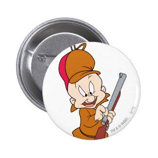 Elmer Fudd Ready to Hunt 6 Cm Round Badge