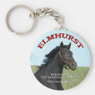 Elmhurst - '97 Breeders Cup Sprint Winner Basic Round Button Key Ring