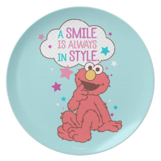 Elmo | A Smile is Always in Style Plate
