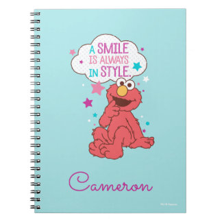 Elmo   A Smile is Always in Style Spiral Notebook