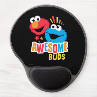 Elmo and Cookie Awesome Buds Gel Mouse Pad