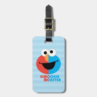 Elmo and Cookie Half Face Luggage Tag