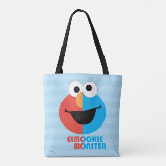Elmo and Cookie Half Face Tote Bag