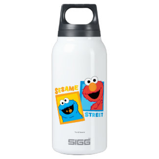 Elmo and Cookie Monster Friends 0.3L Insulated SIGG Thermos Water Bottle