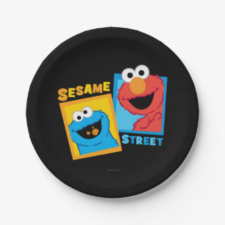 Elmo and Cookie Monster Friends 7 Inch Paper Plate