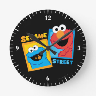 Elmo and Cookie Monster Friends Wall Clocks