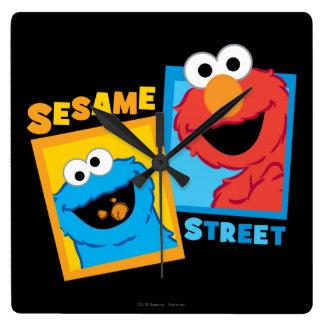 Elmo and Cookie Monster Friends Wallclocks