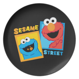Elmo and Cookie Monster Friends Party Plates