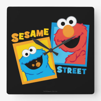 Elmo and Cookie Monster Friends Wallclocks
