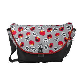 Elmo | Aw Yeah, Awesome Pattern Messenger Bag