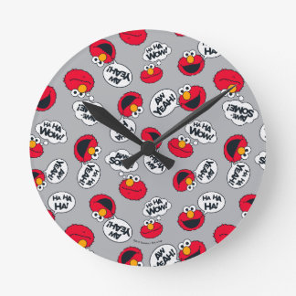 Elmo | Aw Yeah, Awesome Pattern Round Clock
