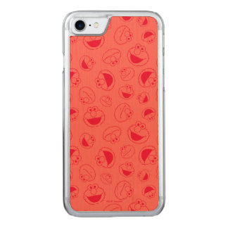 Elmo | Awesome Red Pattern Carved iPhone 8/7 Case