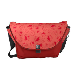 Elmo | Awesome Red Pattern Commuter Bags
