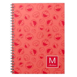 Elmo | Awesome Red Pattern Notebooks