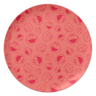 Elmo | Awesome Red Pattern Plate