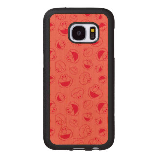 Elmo | Awesome Red Pattern Wood Samsung Galaxy S7 Case