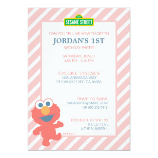 Elmo Baby Birthday 13 Cm X 18 Cm Invitation Card