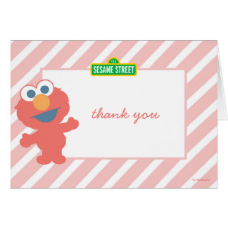 Elmo Baby Birthday Thank You Note Card