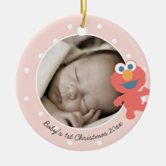 Elmo | Baby's First Christmas - Add Your Name Ceramic Ornament