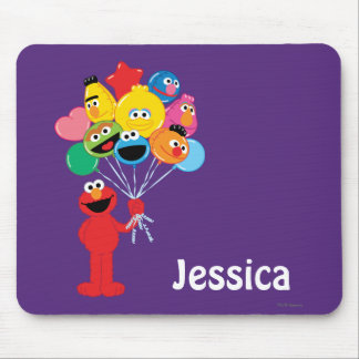 Elmo Balloons | Add Your Name Mouse Pad