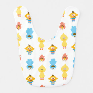 Elmo, Cookie Monster, Bert & Cookie Monster Baby Bib