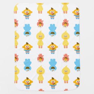 Elmo, Cookie Monster, Bert & Cookie Monster Pramblanket