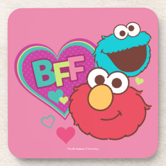 Elmo & Cookie Monster - BFF Beverage Coasters