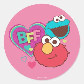 Elmo & Cookie Monster - BFF Round Sticker