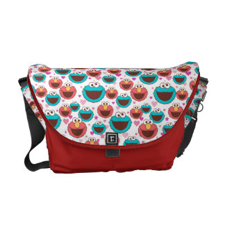 Elmo & Cookie Monster | Peace & Love Pattern Courier Bag