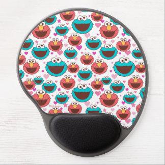 Elmo & Cookie Monster | Peace & Love Pattern Gel Mouse Pad