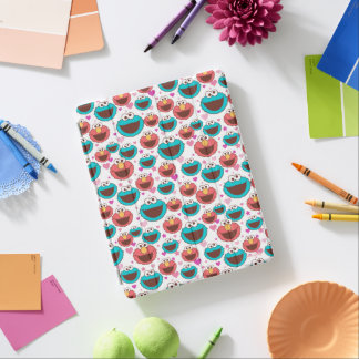 Elmo & Cookie Monster   Peace & Love Pattern iPad Cover