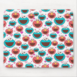 Elmo & Cookie Monster | Peace & Love Pattern Mouse Pad