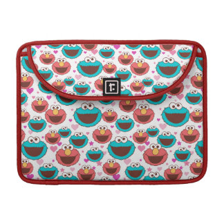 Elmo & Cookie Monster | Peace & Love Pattern Sleeve For MacBook Pro